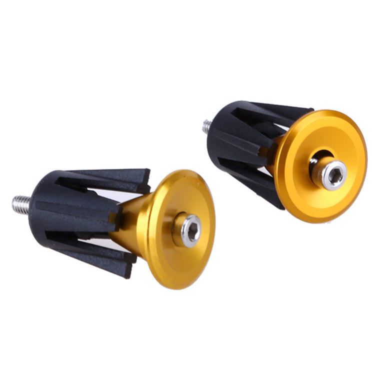 1 Pair Durable Alloy MTB Bike Handle bar Cap End Plug Aluminum Cycling Bicycle Handlebar Grips Cap Ends Plugs Bike Parts