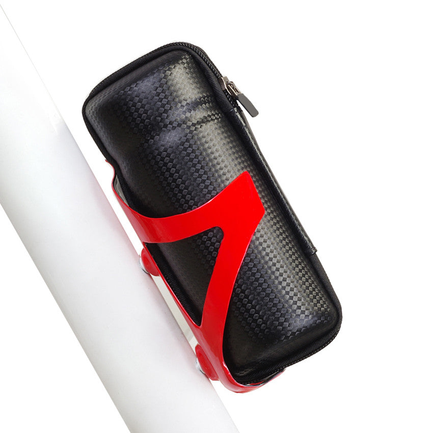 Bicycle Front Frame Tube Tools Bag Sport Cycling Bike Capsule Storage Bags Cycling Bicycle Repair Tool Box Carbon fiber Pattern