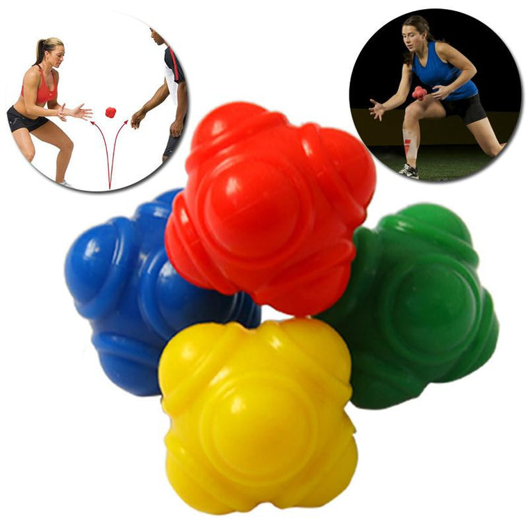 Outdoor Sports Silicone Hexagonal Ball Solid Fitness Training Reaction Ball High Level