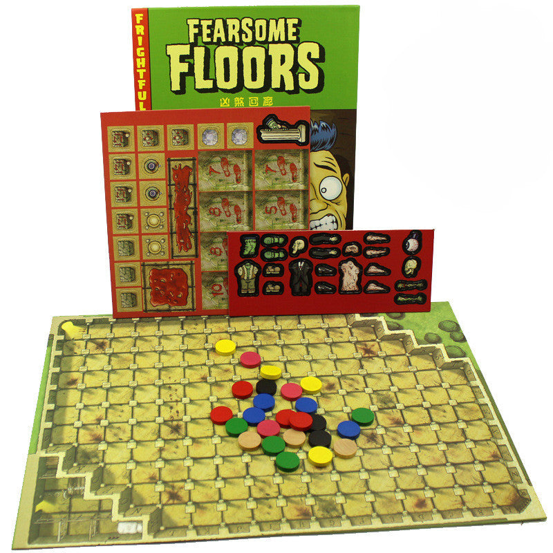 Fearsome Floors  Board Game 2-7 Players Cards Games With English Instructions Easy To Play Funny Game For Party/Family/Gift