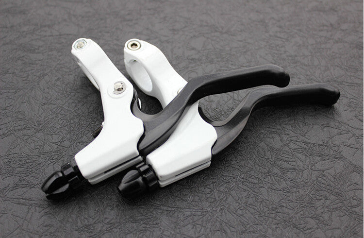 1 Pair white Ceramic Aluminum Alloy V-brake Disc Brakes Lever Mountain Bike Bicycle brake Handle Crank