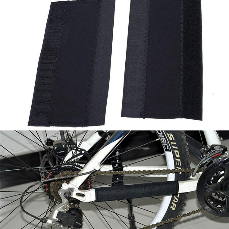 Bike Cycling Chain Stay Posted Protector Care Cover Protection Guards Black