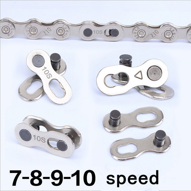 10pair 6 7 8 9 10 Speed Magic Buckle MTB Mountain Road Bike Chain Buckle Bicycle Chain Link Joint