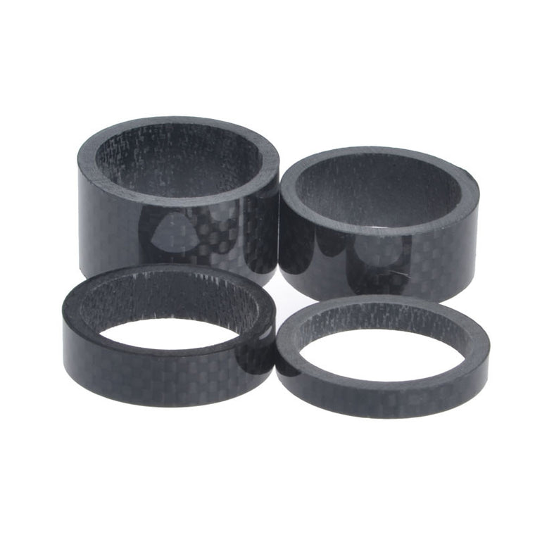"MTB Road Bike Bicycle Matte / Glossy Carbon Fiber Headset 5 10 15 20mm Washer Spacer kit 1-1/8"" For Stem Black Useful Durable"