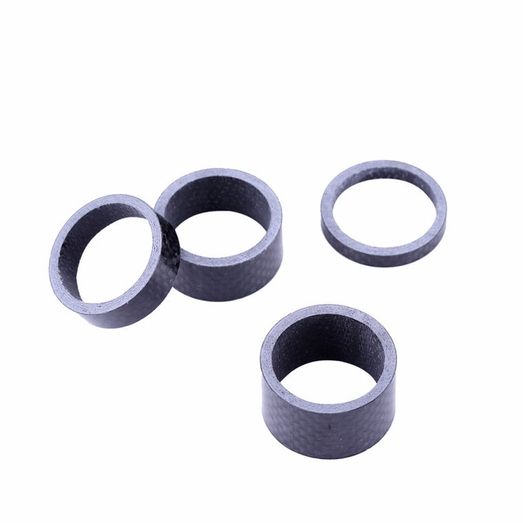 4pcs/Lot Bicycle Headset Spacers Carbon Fiber Bicycle Washer MTB Mountain Bike Headset Fork Washer Spacer