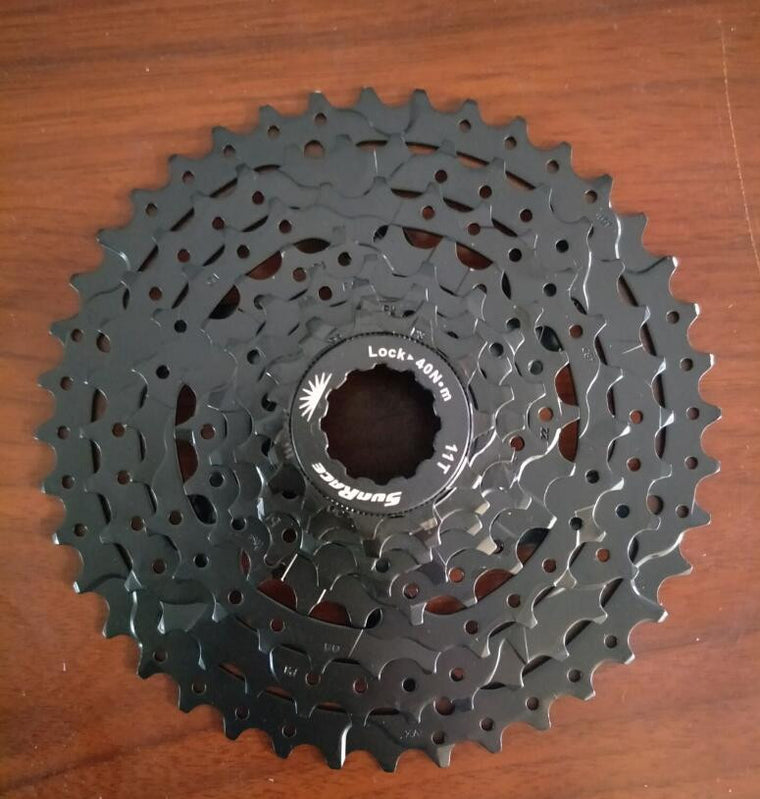 SunRace 8 Speed 11-40T CSM680 Bicycle Freewheel Mountain wide ratio Bicycle Cassette Tool MTB Flywheel Bike Parts 8-speed