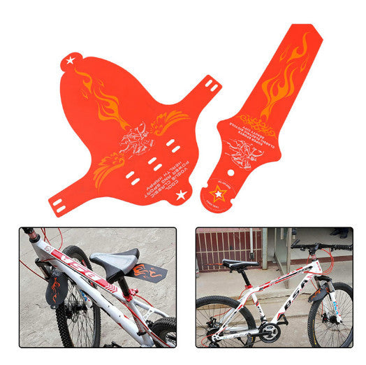 8Colors Bicycle Wings Commuter Saddle Ass Removable MTB Cycling Race Bicycle Mudguard Set Rear MTB Road bike front Rear fender