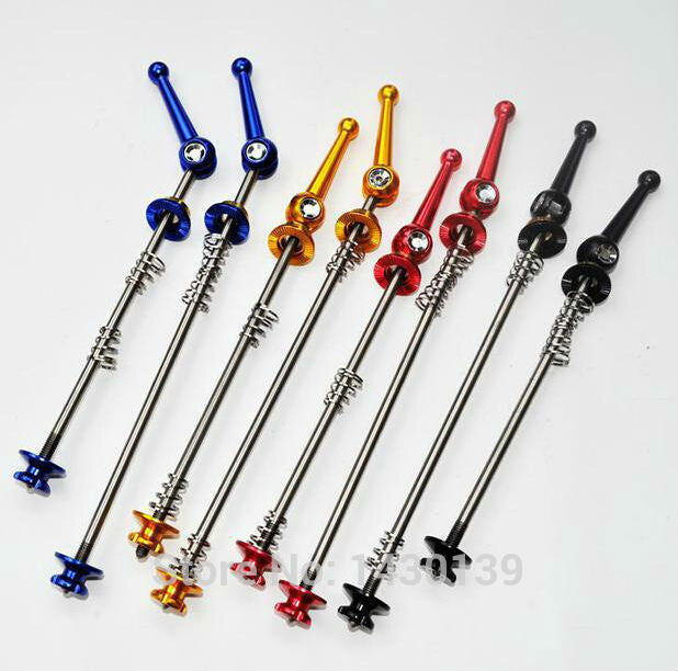 New arrival Titanium alloy Mountain bike quick release Road bicycle quick release skewers QR MTB Bike parts 4 colors Free ship