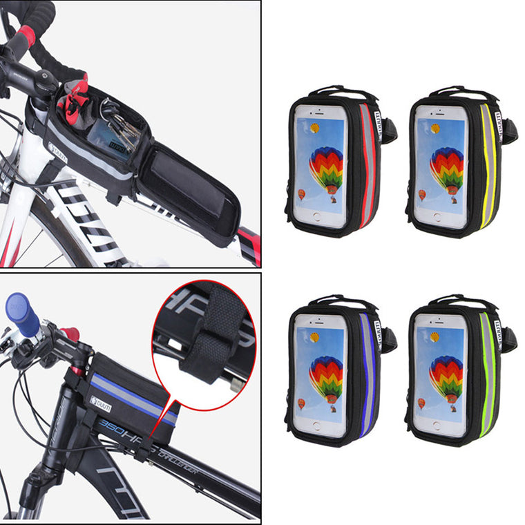 Bike Bicycle Frame Front Tube Bag For Cell Phone MTB Bike Touch Screen Bag