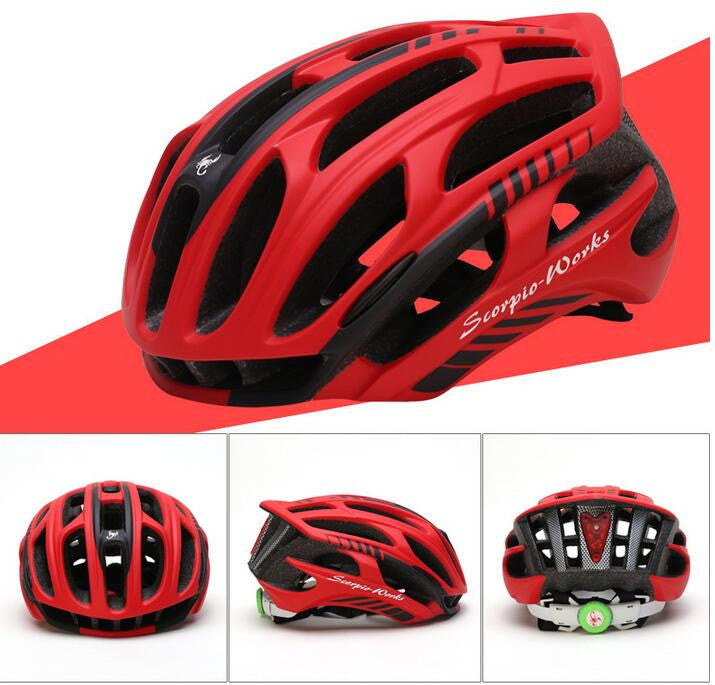 MTB ultralight LED tail light Custom made bicycle cycling special helmets bici casco de capacete bicicleta road bike helmet
