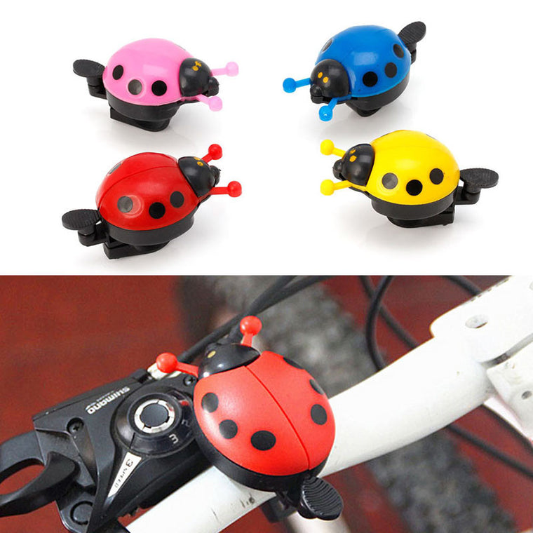 Kid Children Ladybug Bike Bicycle Cycling Handlebar Ring Sound Bell Horn Alarm