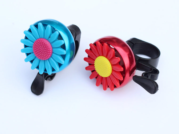Aluminum Alloy Cuty Flower Bike Bicycle Cycling Handlebar Ring Horn Sound Sunflower Bell Alarm Metal Multicolor Useful Safety
