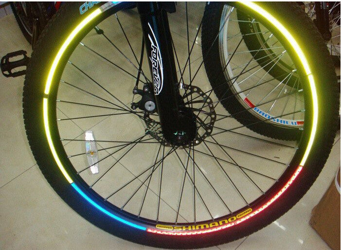 Bicycle reflector Fluorescent MTB Bike Bicycle Sticker Cycling Wheel Rim Reflective Stickers Decal Accessories BRS2002