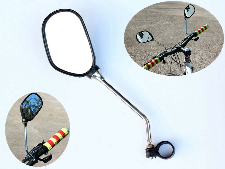 2Pcs/Pair Bicycle Handlebar Mirror Scooter Mountain Road Bike Handlebar Rearview Rear Back View Cycling Mirror Glass