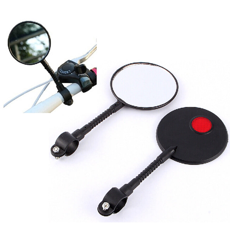 1PCS Bicycle Rearview Mirror Adjustable Reflective Safety Flat Glass Mountain MTB Road Bike Rear View Mirror Handlebar Accessory