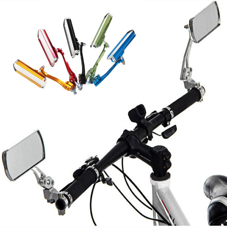 Bicycle Handlebar Rearview Mirror Aluminum Cycling Handle Bar Rear View Mirrors Back Mirrors Reflector Bicycle Rearview Mirror