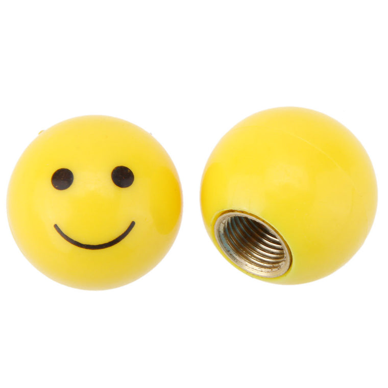 1 Pcs Tire Air Valve Cap Tyres Wheel Dust Stems Smile face caps Bolt in Type Valve For Auto Car Truck Motorcycle