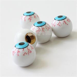 High Quality Car Bicycles Motorcycles Eye Ball Tire Valve Caps Stem Wear-resistant Elaborate ABS Valve Caps Car-styling 4pcs/lot