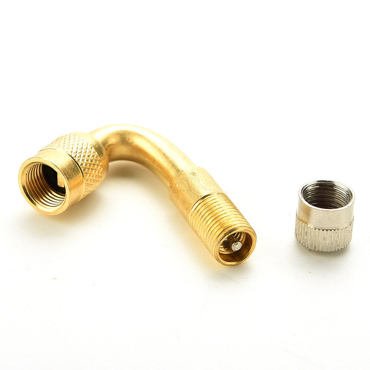 45 Degree Angle Brass Air Tyre Tire Valve Extension Adaptor For Motorcycle Bike Car Scooter