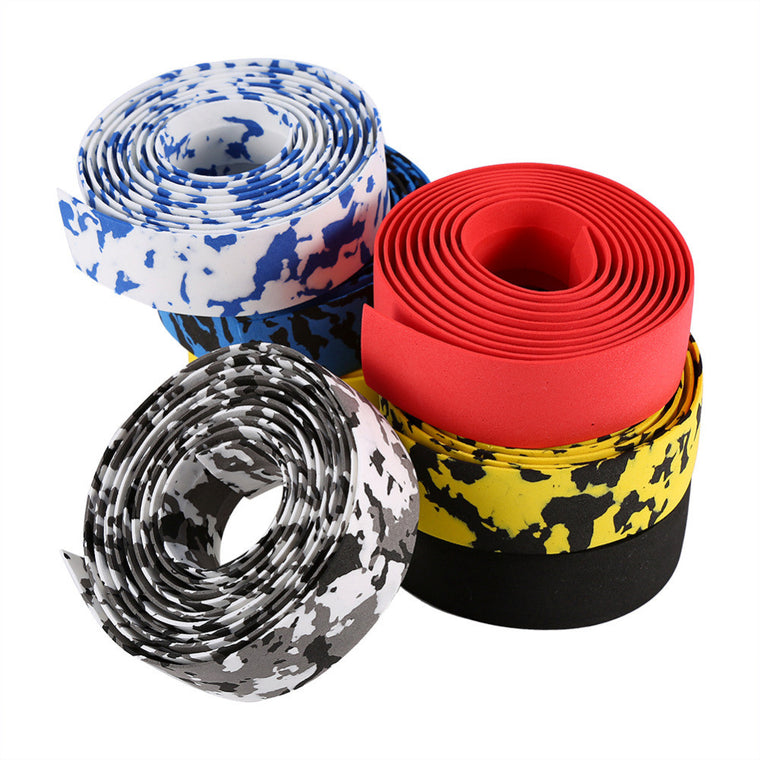 1pair Professional Cycling Road Bike Bicycle Handlebar Tape Reflective Grip Wrap With 2 Bar Plugs Anti-slip Anti-sweat Tape