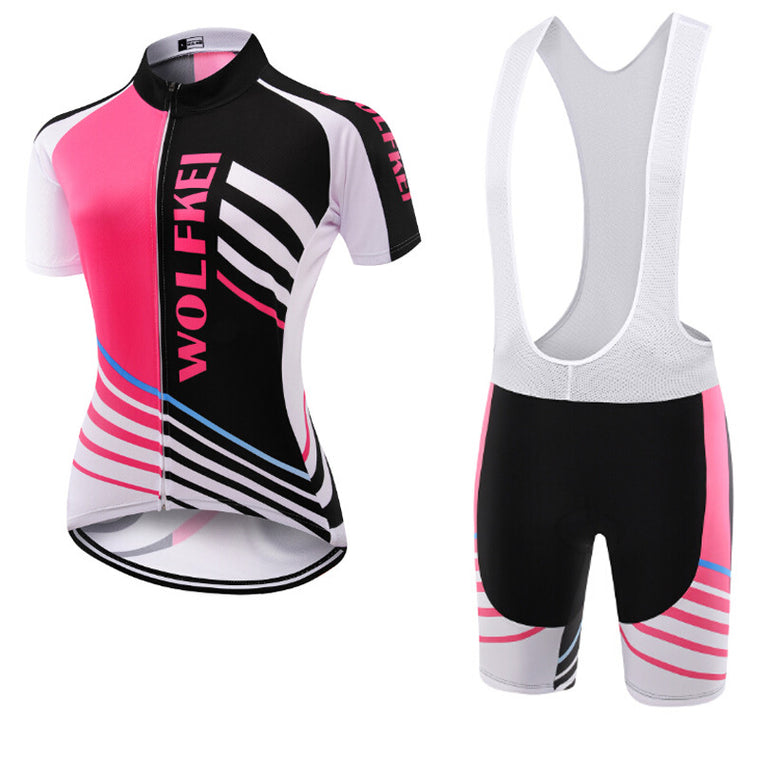 Wolfkei Mountain bike Cycling Jersey Bib Shorts kit for women Ropa Ciclismo bicicletas maillot ciclismo Breathable Sportswear