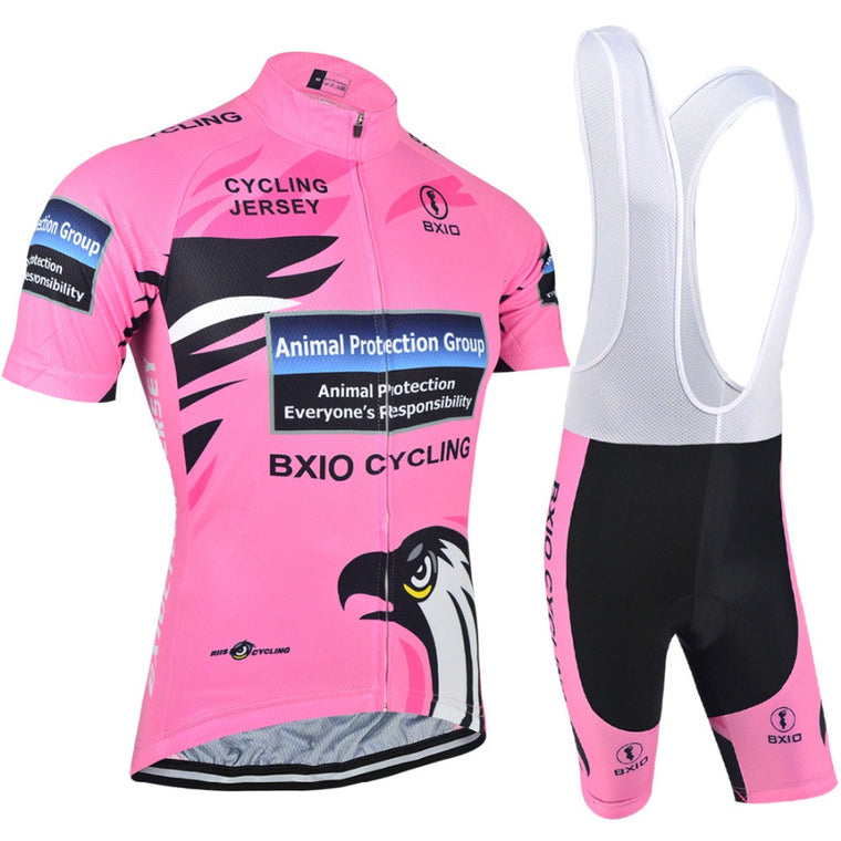 Women Cycling Sets Clothing Bike Sportswear Summer Short Sleeve Bicycle Breathable Pink Jerseys Hot Popular BXIO BX-0209R067