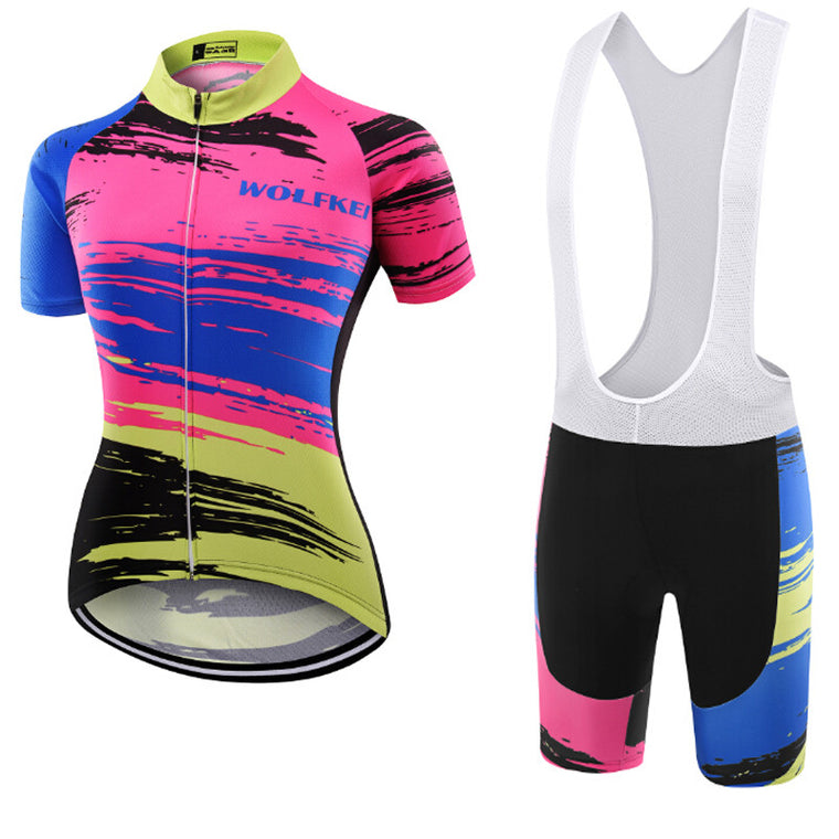 Wolfkei cycling jersey sets/Ropa ciclismo hombre mtb bike sport jersey/cycling clothing bicycle maillot ciclismo for women