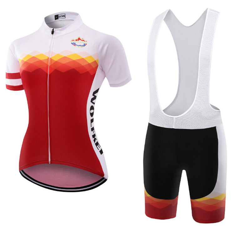 Wolfkei Women Summer Short Sleeve Cycling Jersey/Comfortable Cycling Clothing/Ropa Ciclismo Hombre Colorful Direct Sales