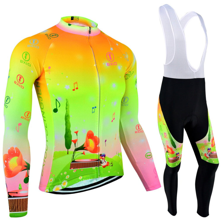 BXIO Ropa Ciclismo Mtb Women Cycling Jersey Long Sleeves Mountain Bike Sportswear Maillot Cycling Sets Clothing BX-0109FG124