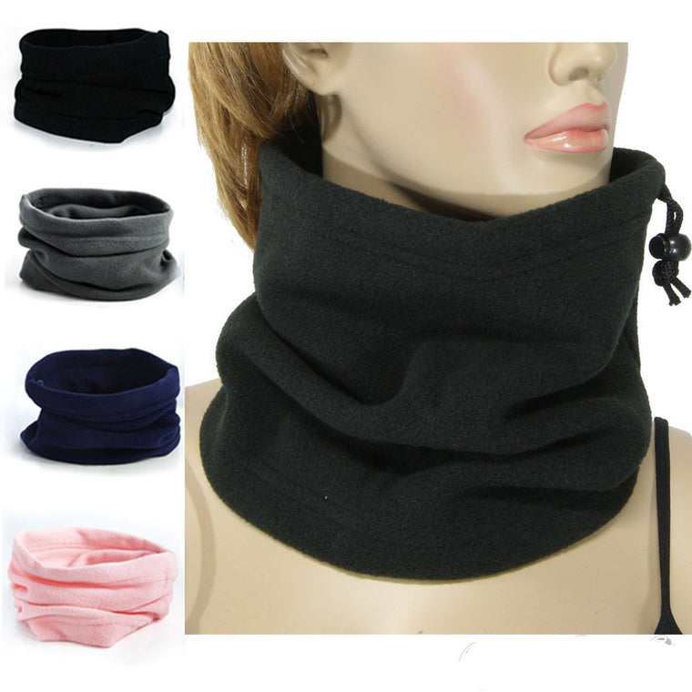1pc 3 in 1 Winter Unisex Women Men Sports Thermal Fleece Scarf Snood Neck Warmer Face Mask Beanie Hats