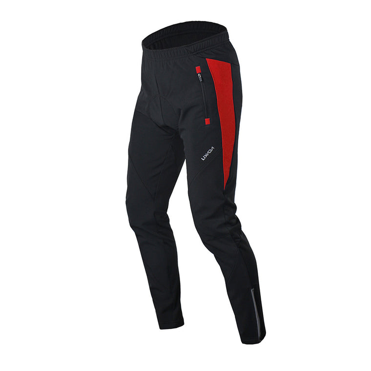 Lixada Men Winter Thermal Cycling Pants Mtb Downhill Mounhtain Bike Fleece Pants Bicycles Long Trousers Cycling Clothing 02997