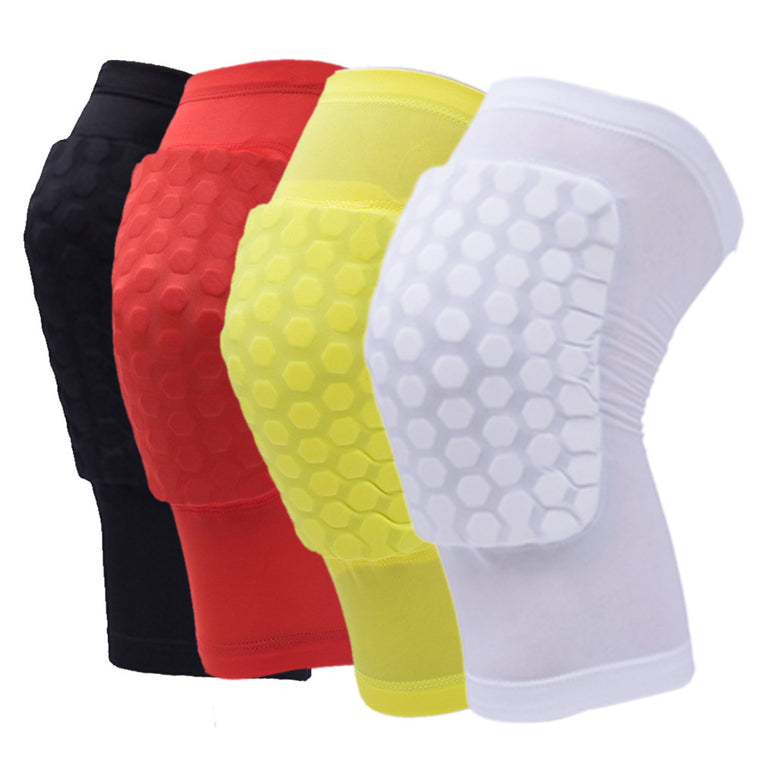 Elastic Leg Warmer Basketball Sports Knee Support Pad Brace Honeycomb Sponge Calf Compression Sleeve Soccer Gym Knee Guard