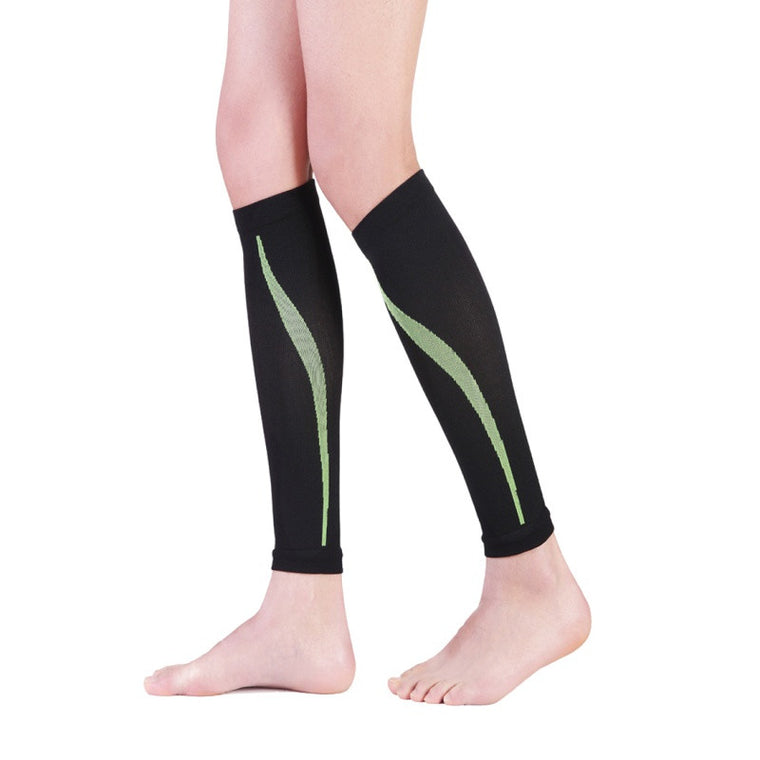 1 Pair Outdoor Exercise Calf Support Graduated Compression Leg Sleeve Sports Socks Leg Braces Outdoor
