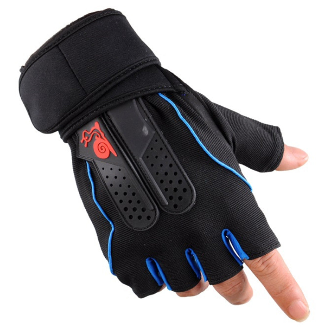 Extended Weight Lifting Gloves  Half Finger Protecting Band Breathable Non-slip Cycling Dumbbells Fitness Gloves Crossfit Sports