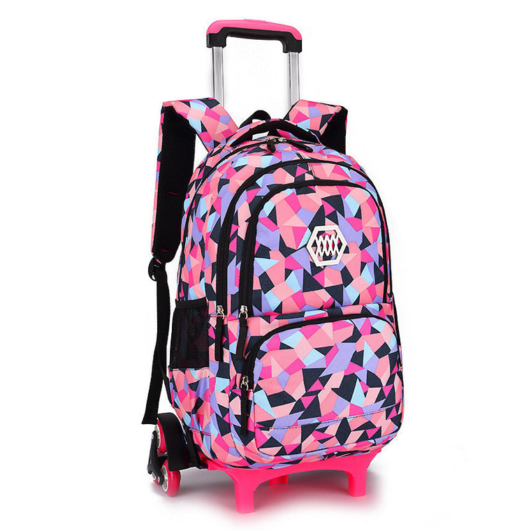 44759825bf Hot Sales Removable Children School Bags with 2 3 Wheels for Girls Trolley  Backpack Kids