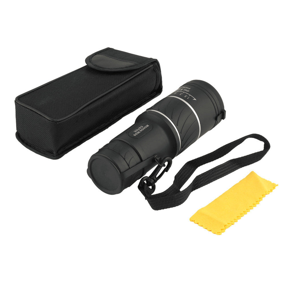 30 X 52 Dual Focus Dual Green Film Powered Big Eyepiece Monocular Telescope free shipping