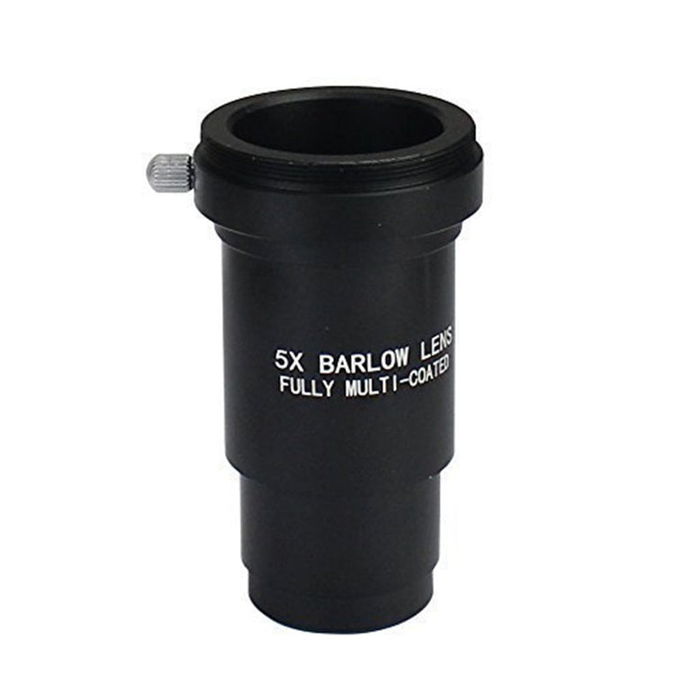 1.25 Inch 5x Fully Blackened Metal Barlow Lens - Accept 1.25inch Filters-also Can Be Used for Astronomical Photography