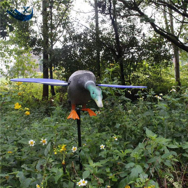 Xilei New Arrival Wholesale 6V Remote Control Eco-Friendly Paint Duck Decoy Mojo Duck Decoy With Magnet Spinning Wings