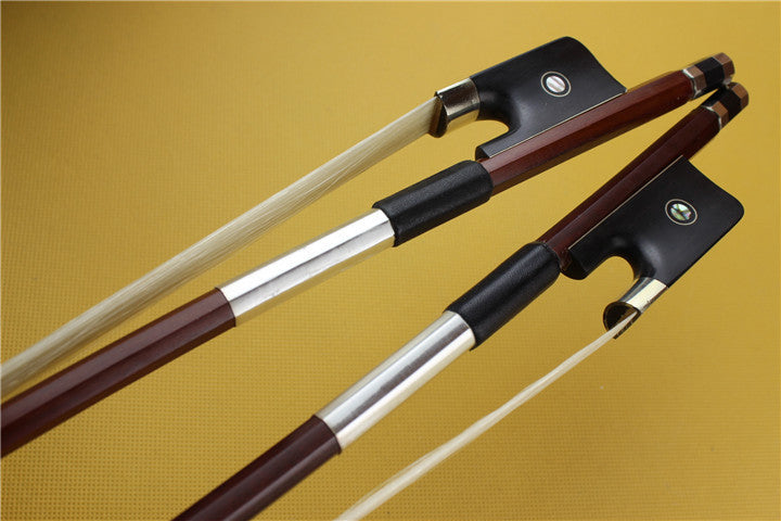 1pc New Brazil wood 3/4 Double Bass Bow ebony frog Very Nice