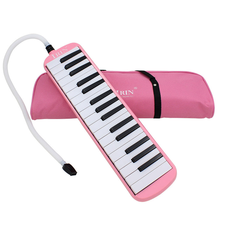 IRIN PINK style Woodnote Brand - Great 32 Key Black Melodica & Deluxe Carrying Case