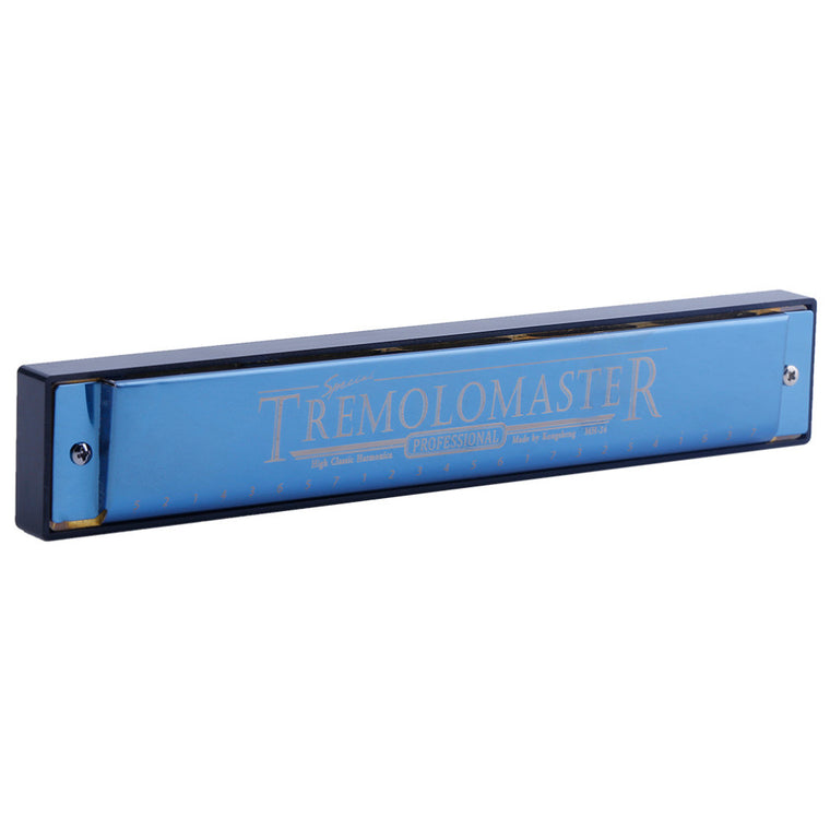 Top Quality 24 Hole Tremolo Harmonica C Key Polyphony Harmonicon Beginners Instrument free shipping
