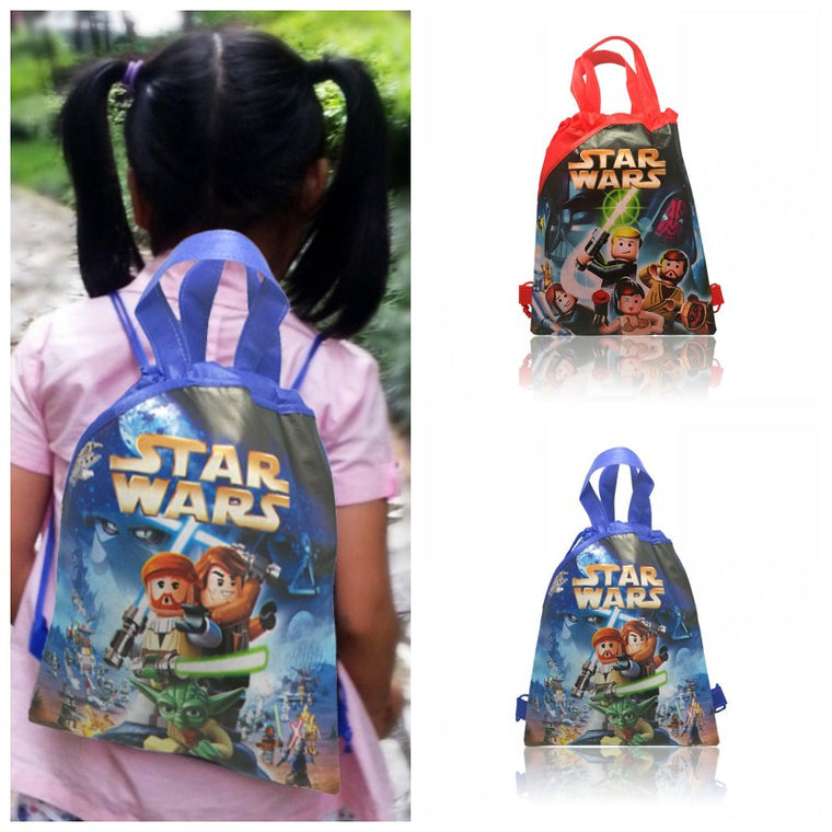 1PCS Star Wars Children Drawstring Backpacks School Shopping Bags 34*27CM Non Woven Fabrics Kids Birthday Party Birthday Gift