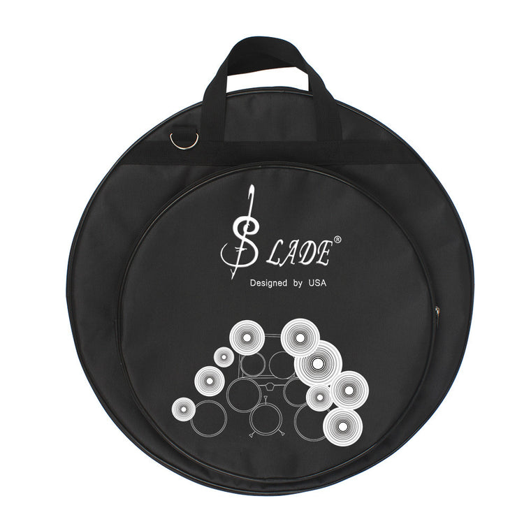 High Quality 21-Inch Three Pockets Cymbal Bag Packback with Removable Divider Shoulder Strap Percussion Instrument Accessories