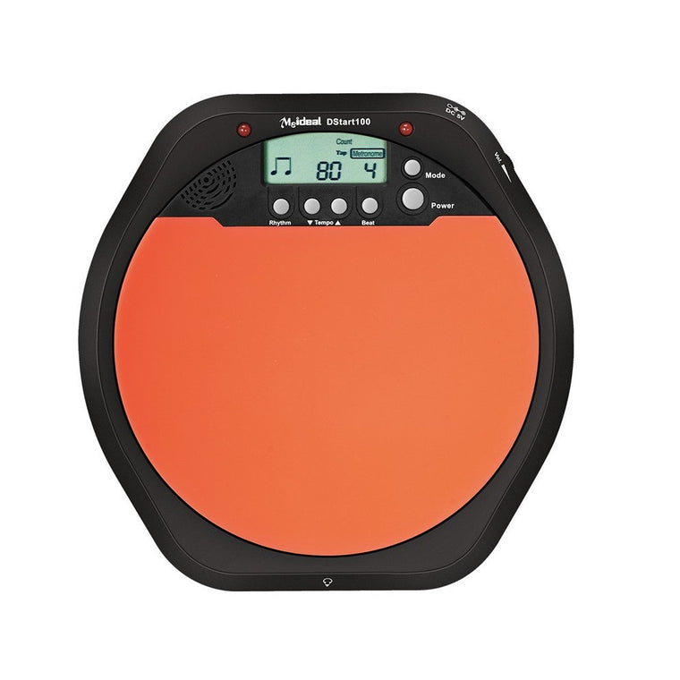 New Meideal Portable DS100 Drums Electronic drum Training Pad Drum Tutor - Black + Orange