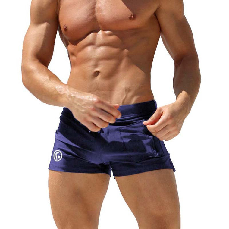 4434fe3793bf6 Men Swimming Trunks Low Rise Swimwear Men Swim Shorts Sexy Male Swimsuit  Boxer Surf Bathing Swim