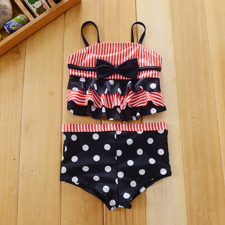 Action club Character high-quality Kids Swimming two-Pieces Baby Girls Bathing Suit Children  Summer Swimsuit stripe Swimwear 3