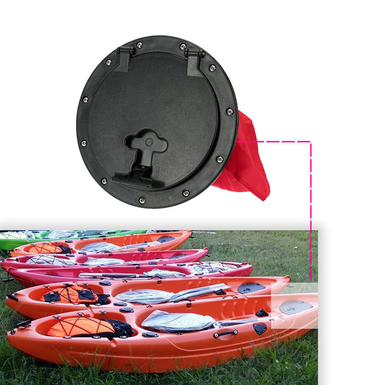25cm Outer Diameter Kayak Accessories Marine Out Deck Plate Cover Plastic Access Boat Round