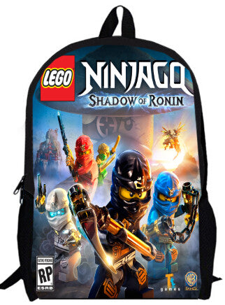 15inch le go ninja backpack children primary School  Kids Cartoon avengers ninja go bag