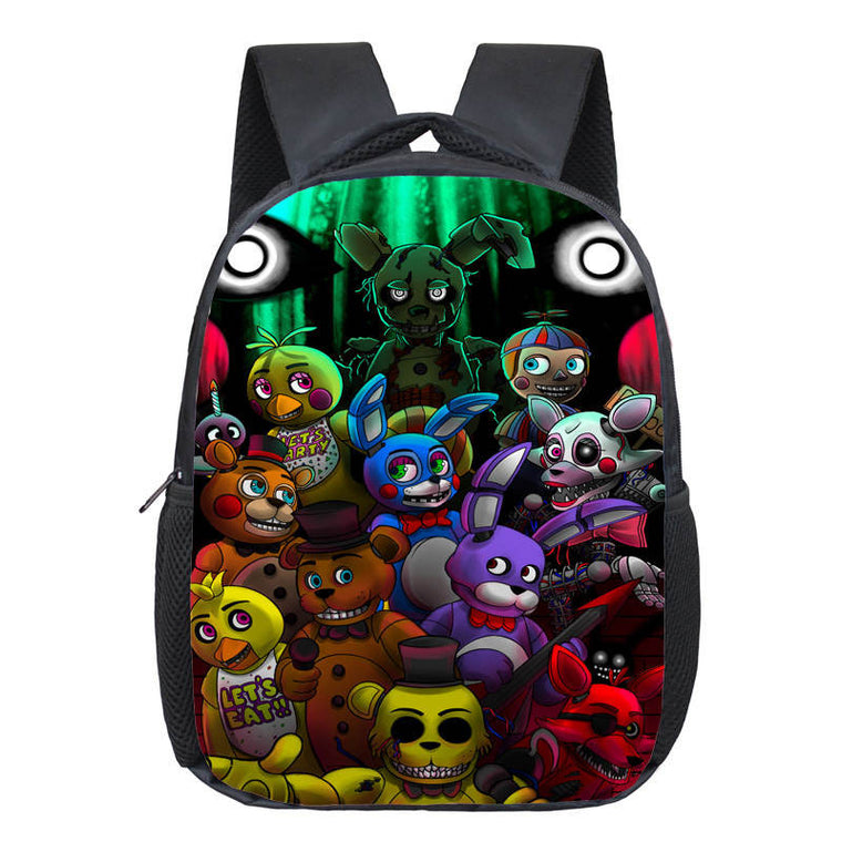 12 inch Kids Five Nights At Freddys Backpacks Anime Fnaf Backpack Boys  Girls School Bags Children 7f246a6ceac4f