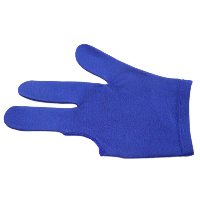 High Quality Spandex Snooker Billiard Cue Glove Pool Left Hand Open Three Finger Accessory for Unisex Women and Men 4 Colors